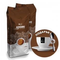 PROMO: 2 X  Adore Grand Espresso 1 kg + ЧАША И ЛЪЖИЧКА