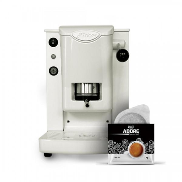 PROMO: Кафе машина FABER Slot Plast с подарък 16 бр. дозети ADORE Espresso Bar