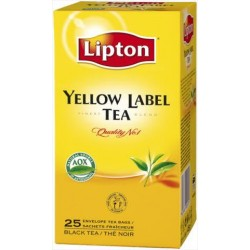 Lipton черен чай жълт етикет 25 бр.